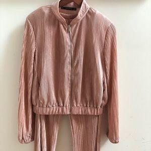 ZARA BASIC Zipped-up Jacket and Matching Bottoms